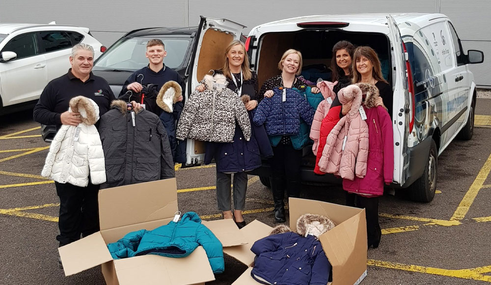 Hydro Group donates coats for kids to AberNecessities charity